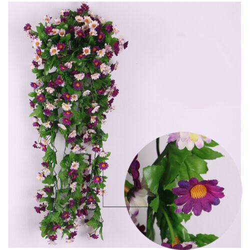 87cm Fake Silk Daisy Wisteria Hanging Flower Vine Wedding Decor Purple White