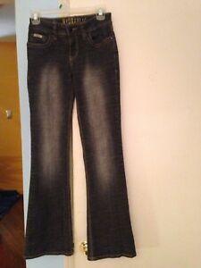 65090e2eab6 Junior's Hydraulic Black/Grey Boot Cut Jeans in Size 1-2   eBay