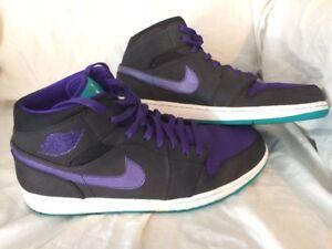 39b4c1ec96d2 Nike Air Jordan 1 Retro Hornets Turquoise Grape Ice Size 14 Shoes