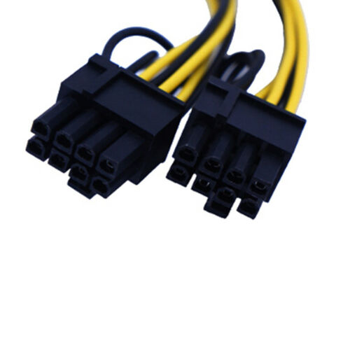 6pin+2pin Video card 6pin to Double 8pin connector cable extention cables HU