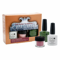 3 Pcs Holiday Cnd Charmed Additives Shellac Nail Polish Ice Vapor Frosted Glen