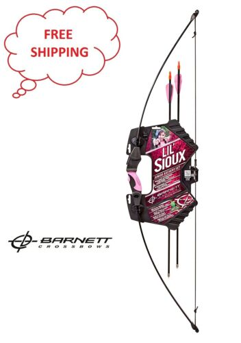 Pink With 2 Target Arrow Barnett Crossbows Lil Sioux 1071P Recurve Archery Set