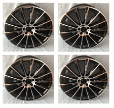 4pc 20 Black Multispoke Amg Style Rims Wheels Fits Mercedes Benz S450 S500 S550
