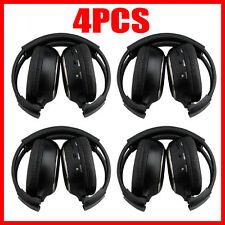 4X Infrared Stereo Wireless Headphone Headset IR for Car CD DVD Player Headrest