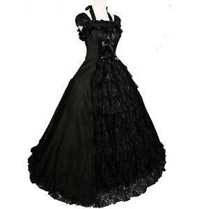 Victorian-Gothic-Sleeveless-Southern-Belle-Lolita-Cosplay-Gown-Ball-Solemn-Dress