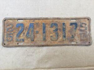 1925-SOUTH-DAKOTA-LICENSE-PLATE-ORIGINAL-25-HOT-RAT-STREET-ROD
