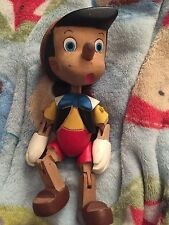 Disney, wooden Pinocchio jointed doll toy