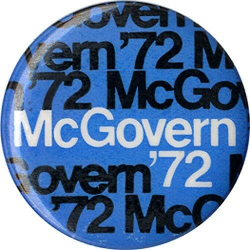 Cool Modern 1972 George McGovern Campaign Button (3163)