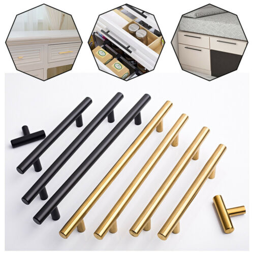 Kitchen Cabinet Door Handle Brushed Satinless Steel T Bar Drawer Pulls//Knobs Lot