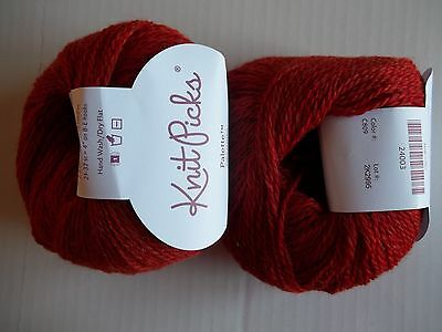 Knit Picks Palette 100% wool yarn, Salsa Heather, lot of 2 (231 yds each)