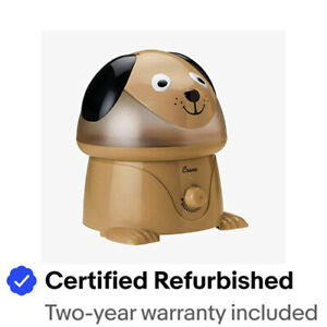 Crane RB-3190 EE-3190 Adorables Ultrasonic Humidifier Dog Certified Refurbished