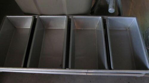 Vintage COMMERCIAL 4 Strap LOAF BAKING BREAD Metal PAN Bakeware EUC Slight Use