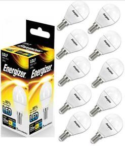 10-x-Energizer-E14-ses-Golf-LED-Bombilla-opalo-250lm-3-4W-25W-Blanco-Calido-2700k