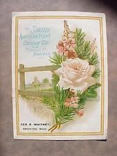 RARE 1890's Advertising Card SMITH AMERICAN PIANO & ORGAN CO. Boston Mass.