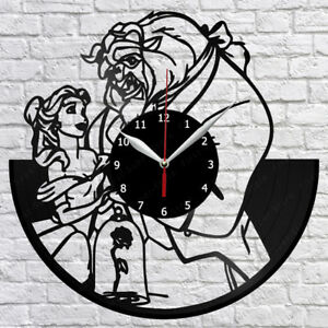 Image Is Loading Beauty And The Beast Vinyl Record Wall Clock