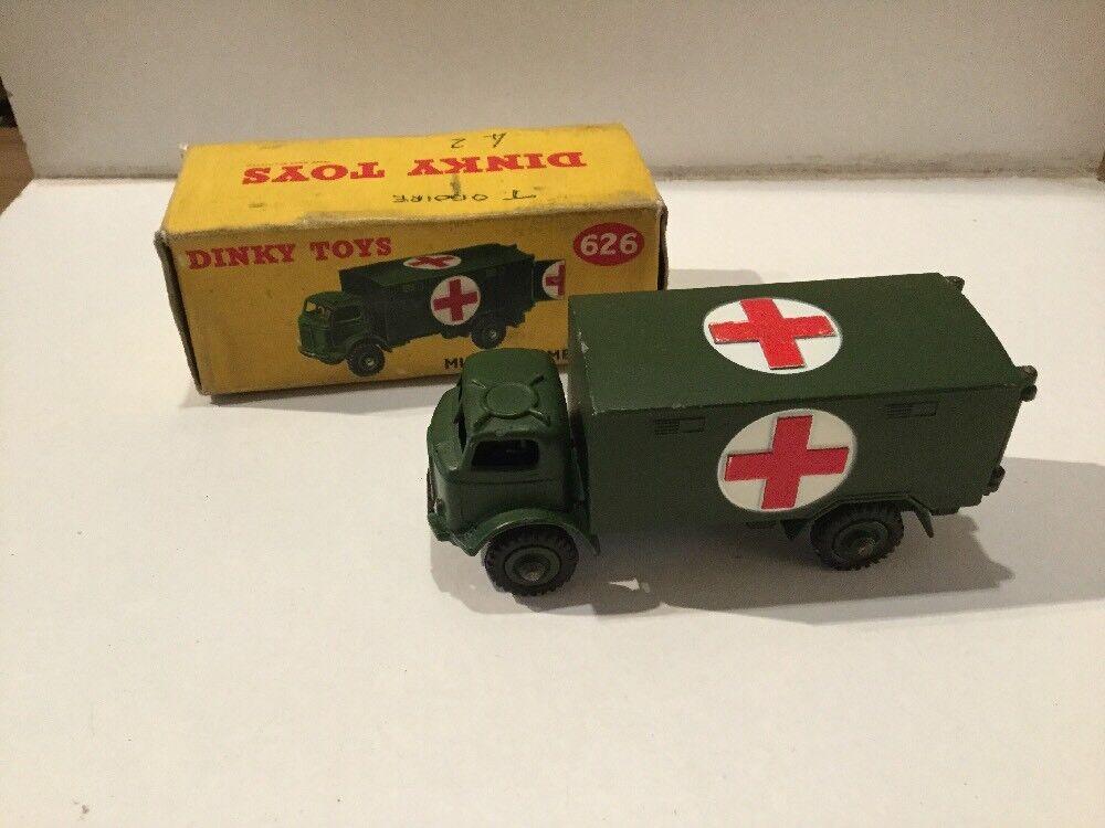 Original dinky spielzeug militärische krankenwagen 626 in seiner ursprünglichen box