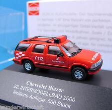 Busch H0 CHEVROLET BLAZER Feuerwehr 22. Intermodellbau 2000 ltd OVP HO 1:87 Box