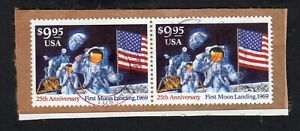 1994-Moon-Landing-Sc-2842-used-9-95-face-CV-32-for-pair