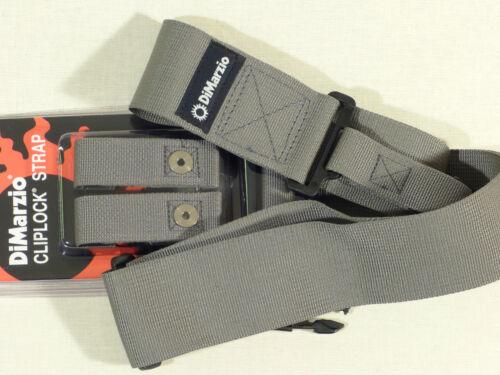 DiMarzio DD2200 Cliplock CORDURA Quick Release Straps GREY