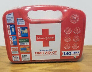 Johnson and Johnson Emergency Portable First Aid Kit 140 pc W/ Travel Case - NEW