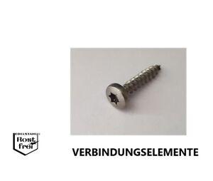 Holzschrauben-Spanplattenschrauben-TORX-EDELSTAHL-A2-Rundkopf-Linsenkopf