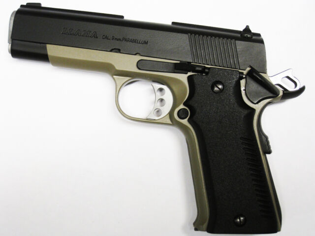 Llama Large Frame Ix-a Ix-b 9mm Parabellum 45 38 Gritty Texture Grips Black | eBay