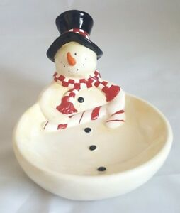Snowman-Christmas-Candy-Dish-Round-Frosty-Candy-Cane-6-034
