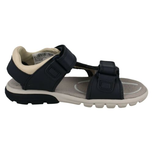 ROCCO WAVE KIDS BOYS CLARKS HOOK /& LOOP BEACH SHOES CASUAL LEATHER SANDALS SIZE