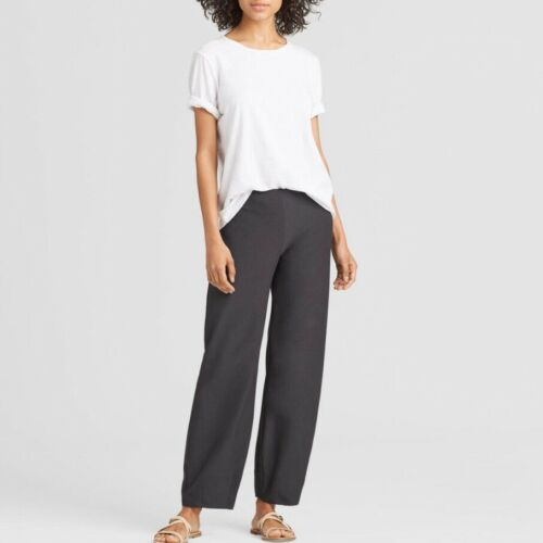 Eileen Fisher Brown Green Military Pants Washable