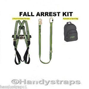 kratos full body safety harness kit fall restraint c w bag and 2image is loading kratos full body safety harness kit fall restraint