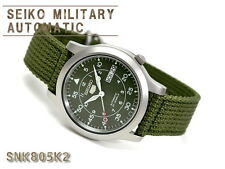 Seiko 5 Men's SNK805K2  Stainless Steel Automatic 21 Jewels Military Watch