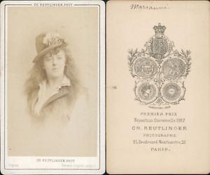 Reutlinger-Paris-Mariani-actrice-Vintage-CDV-albumen-carte-de-visite-CDV