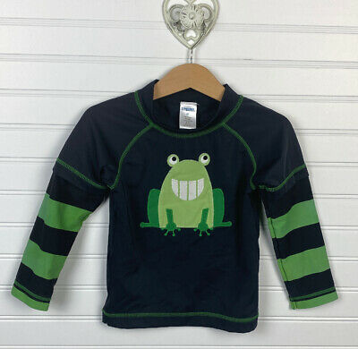 GYMBOREE SWIM SHOP GREEN COOL FROGGY L//S RASHGUARD 6 12 18 24 2T 3T 4T NWT