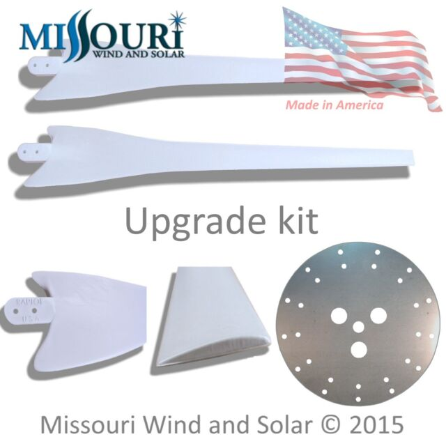 Upgrade kit 2 Raptor G4™ blades and 13 blade hub for wind turbine generator GRAY