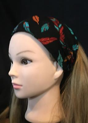 Feathers Bandana Head Hair scarf band Biker Dog Feeanddave