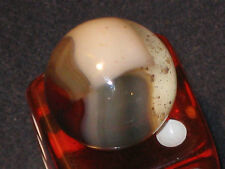 UNUSUAL SLATE GRAY 1/2 HELMET MULTI COLOR VINTAGE VITRO AGATE GLASS MARBLE
