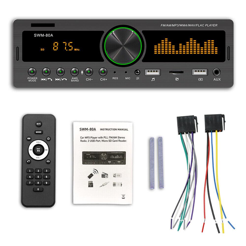 autoradio: 12V 1 DIN Autoradio Lettore MP3 stereo Bluetooth FM / USB / AUX / SD cruscotto