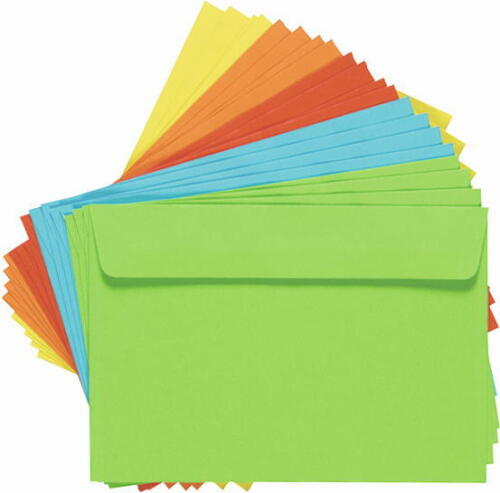 Farbiger Briefumschlag Gelb DIN C6 Kurvert 100 Stück