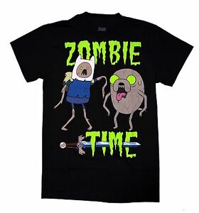 ADVENTURE TIME WITH FINN & JAKE ZOMBIE TIME CARTOON NETWORK T TEE SHIRT S-3XL