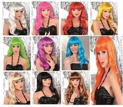 WOW Langhaar Perücke blond Party Girl elegant chique Damen Langhaarperücke