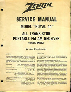 Zenith Tr Tor Radio Service Manuals. Rare Original Factory Zenith Royal 44 Fm Am Tr Tor Radio Service Rh Ebay Wave Mag Model Numbers. Wiring. Zenith Radio Schematics Model C730 At Scoala.co