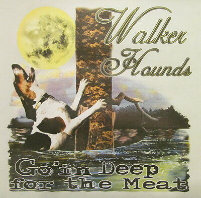 COON HUNTING COONDOGS SHIRT #526-S WALKER HOUNDS GOIN/' DEEP FOR THE MEAT..