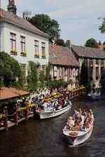 metal sign 794036 canal boat rides brugge belgium a4 12x8 aluminium