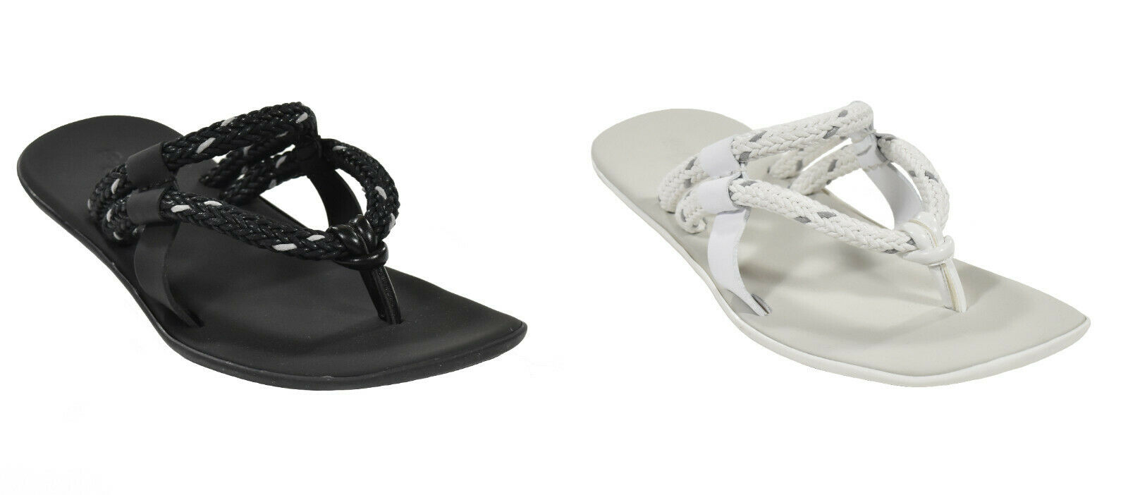 Ralph Lauren viola  Label Leather Rubber Lery Thong Sandals New  esclusivo