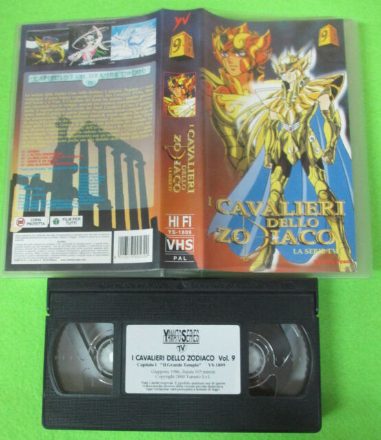 VHS film I CAVALIERI DELLO ZODIACO 9 la serie tv YAMATO VIDEO (F180)no dvd