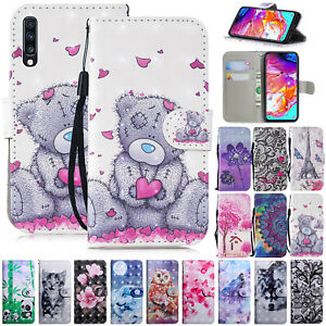 For Samsung A10 A30 A40 A50 A70 Phone Case Leather Stand Flip Folio Wallet Cover Ebay
