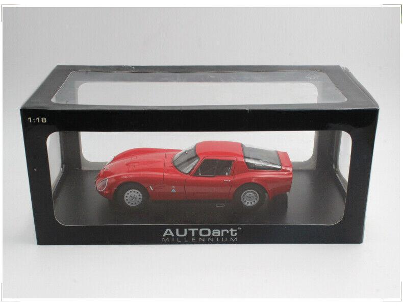Autoart 1 18 Alfa Romeo Giulia TZ2 Zagato Classic Die-Cast Modell Car rot