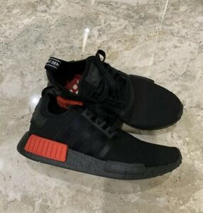reputable site 283cc 6a1ad Details about Adidas NMD R1 B37618 Men's Shoe CORE BLACK/LUSH RED (BRED)  Size 8 US