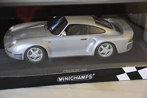 Minichamps 155066201 - Porsche 959 1987 Argent 1/18