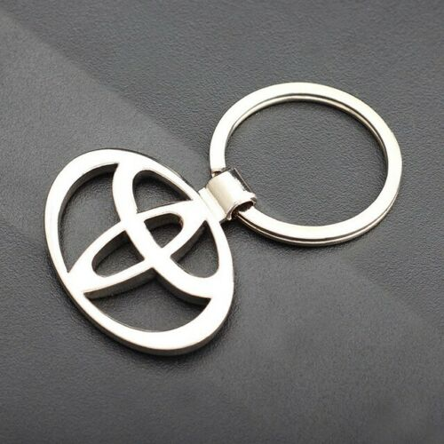 TOYOTA Car Logo Key Chains Metal Leather High Quality   -Ships From USA Wood